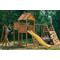 Уличный детский спортивно-игровой комплекс - ВЫШЕ ВСЕХ ПОБЕДА ЗАРНИЦА, песочница, качели 2, горка, скалодром, канатная сетка, стол с лавочками, фото 1